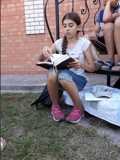 Leah, Scharfenberg, Berdyansk, Ukraine, English camp